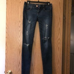 Gently used American Eagle Distressed Jeggings